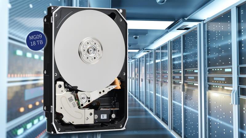 Toshiba представила жёсткие диски ёмкостью 18 ТБ