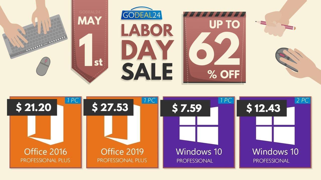 Распродажа на GoDeal24 перед майскими праздниками: Windows 10 всего за $7,59