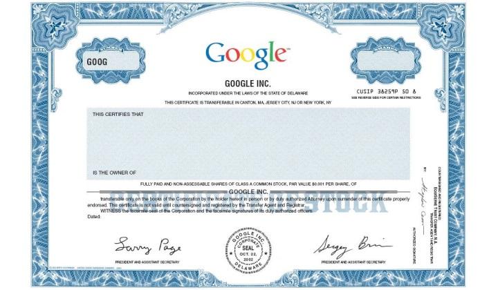 акции гугла