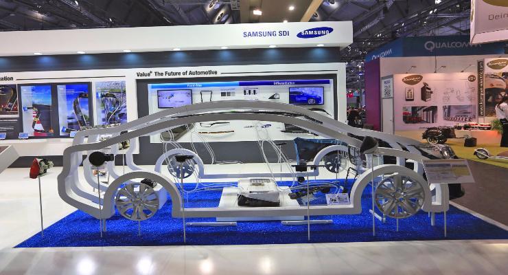 Аккумуляторы Samsung для электромобилей заряжаются за 20 минут на 500 км хода