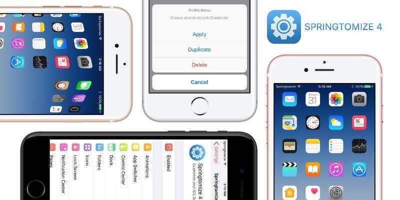 Твик из категории «все-в-одном» Springtomize 4 обзавелся поддержкой iOS11 и 12