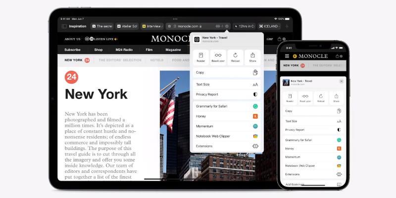 Новая версия Safari  с полной синхронизацией между устройствами