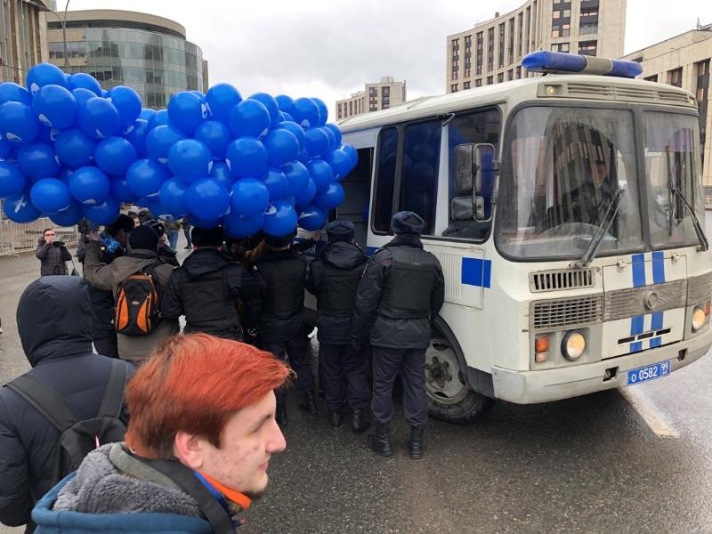 Митинг против изоляции рунета в Москве: Детали первых задержаний