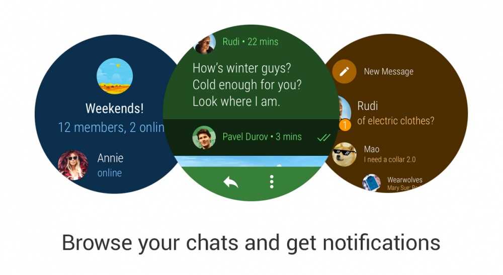 Telegram for Android Wear 2.0