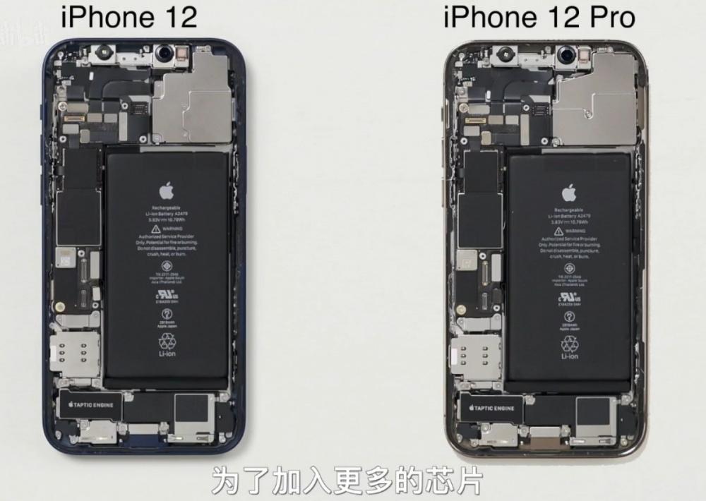 Розбирання довело, що iPhone 12 і 12 Pro майже не відрізняються