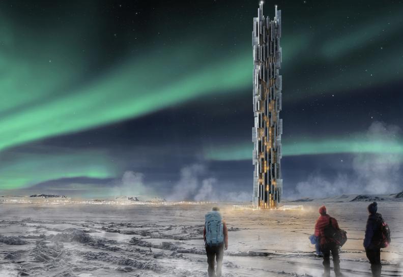 Информационный небоскреб в Исландии
