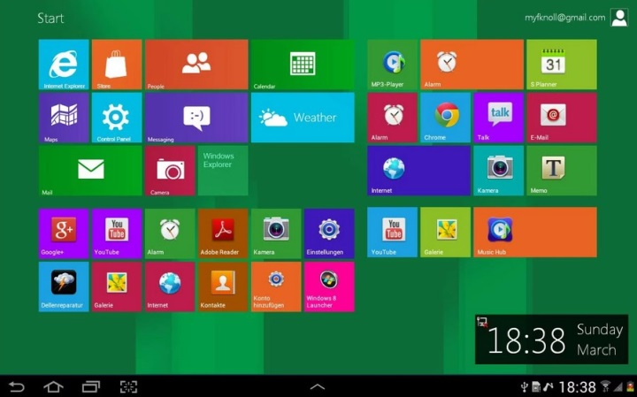 Windows 8 Metro Launcher