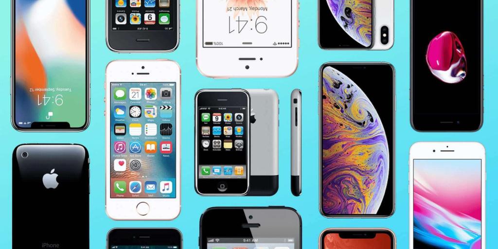 эволюция iphone 1 до 5