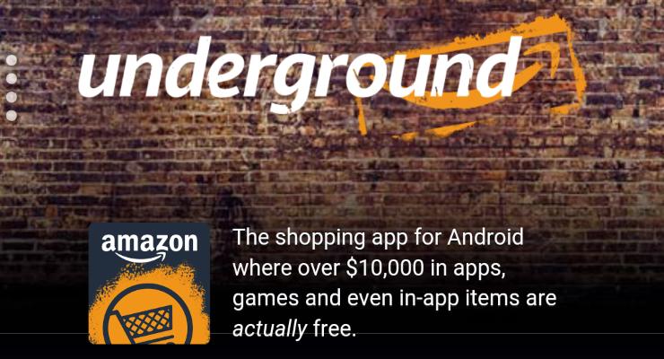 Amazon Underground — сотни приложений и игр с премиум-контентом бесплатно