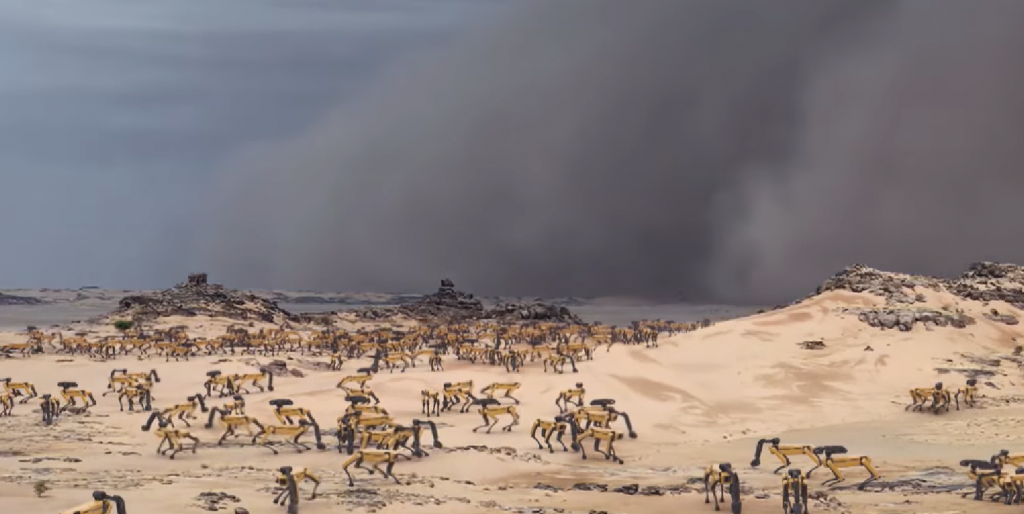 Картинки по запросу Planet Earth: A migrating herd of SpotMinis face challenges