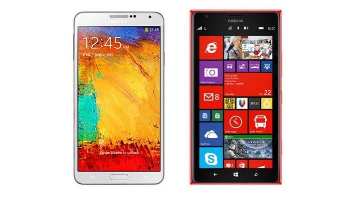 Lumia 1520 и Galaxy Note 3