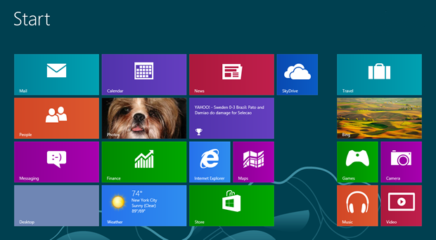 Плитки в Windows 8