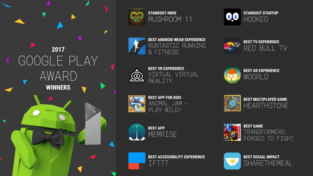 google play awards 2017