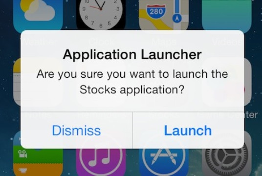 Confirm Launch iOS 7
