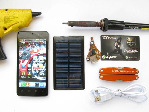Как сделать зарядку для смартфона на солнечных батареях за 5 минут
