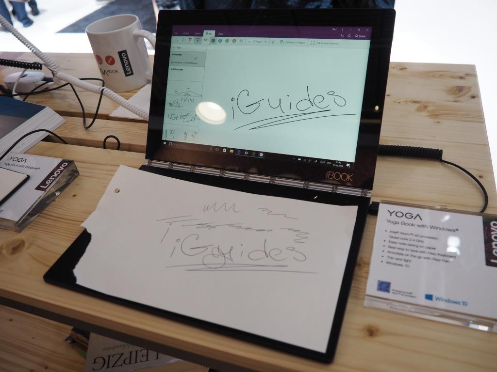 IFA 2016: Lenovo Yoga Book — единственный в мире ноутбук с сенсорной клавиатурой