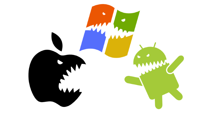 android, ios, windows phone