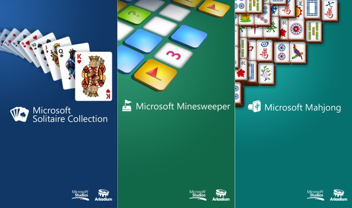 Solitaire, Minesweeper и Mahjong