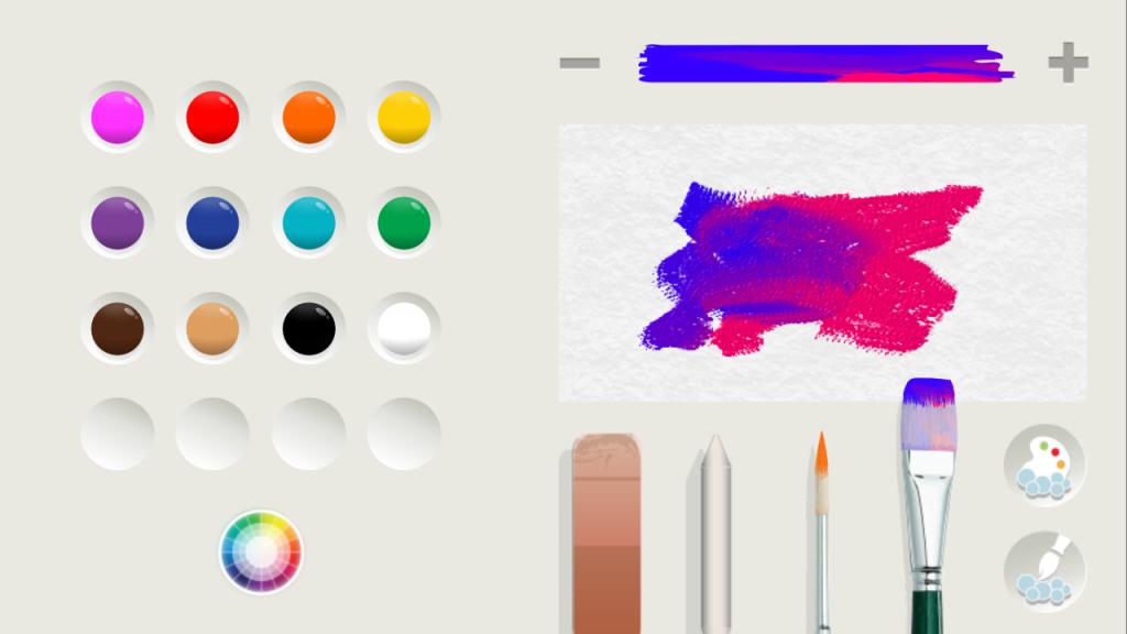 Рисунок красками из двух цветов