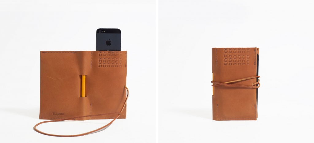 Leatherback Moleskin iPhone Holder