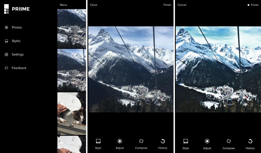 Фоторедактор Priime выберет лучший фильтр для вашего снимка