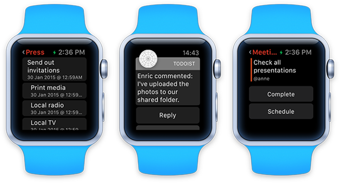 Todoist на Apple Watch