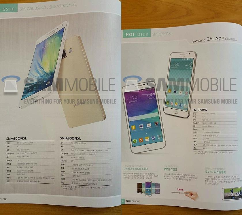 Samsung скоро представит смартфоны Galaxy Grand Max и Galaxy A7