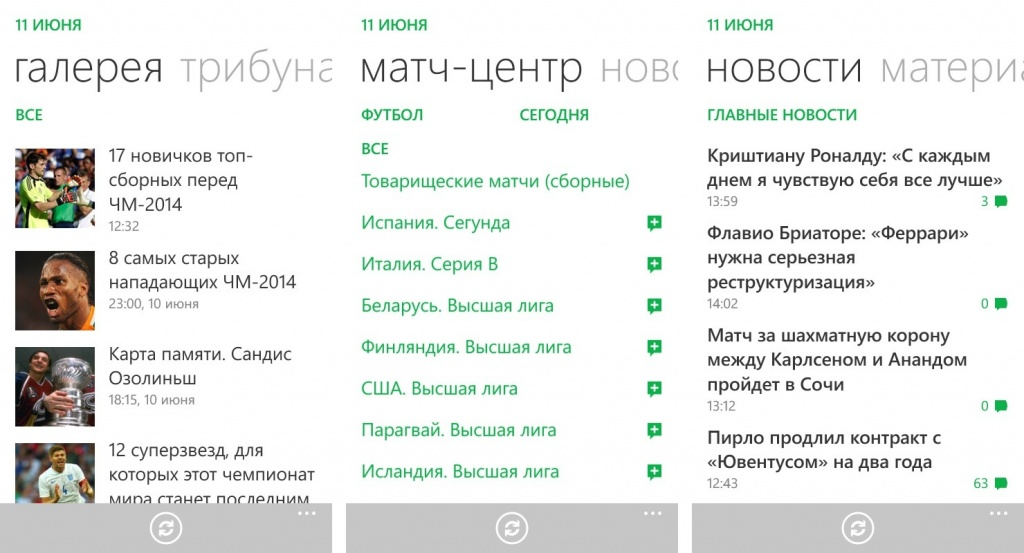 Чемпионат мира 2014 на Windows Phone