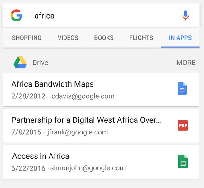 В приложении Google появился поиск по «Диску Google»