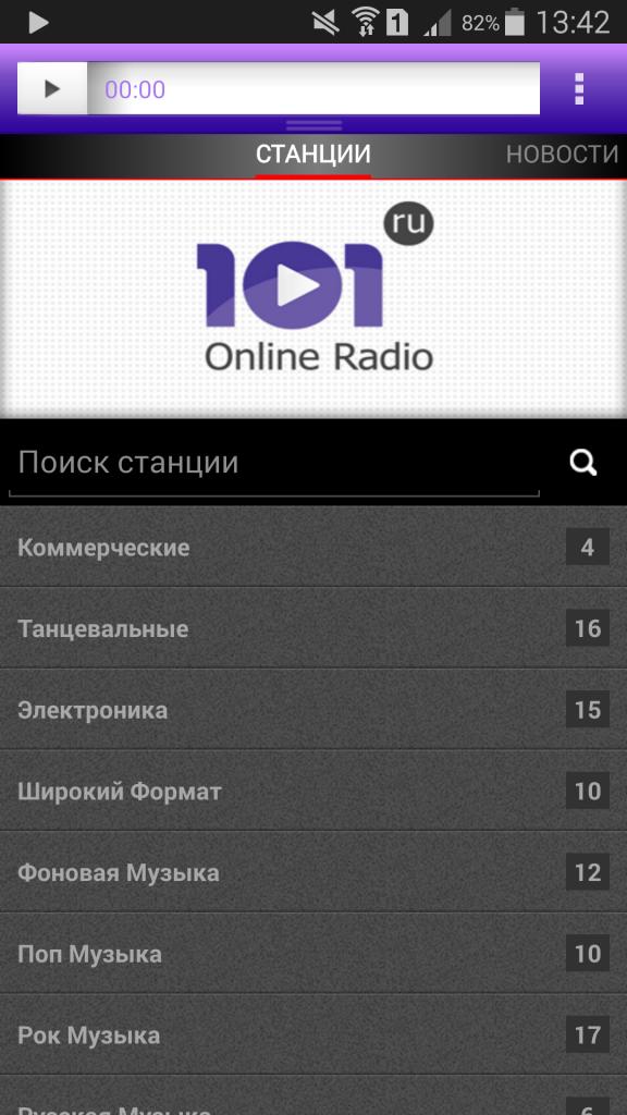 Интернет радио 101 ru