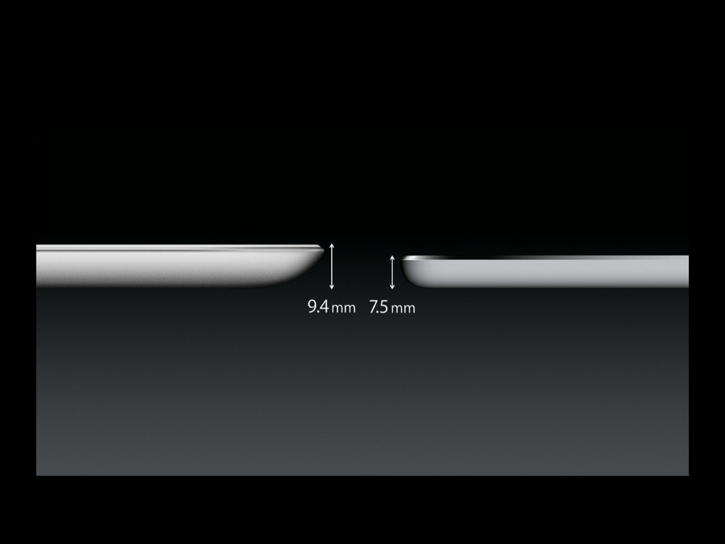 iPad Air - thinner