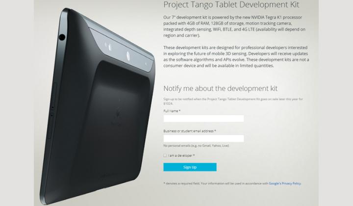 Project Tango Tab