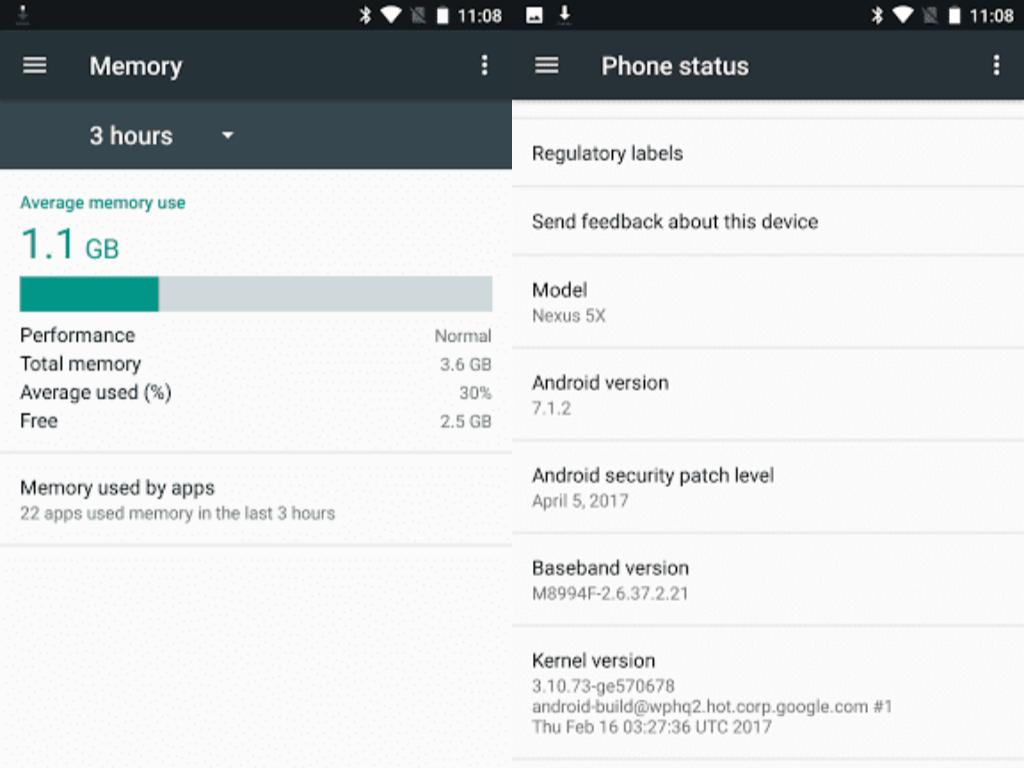 Google выпустила обновленную версию Android Nougat 7.1.2