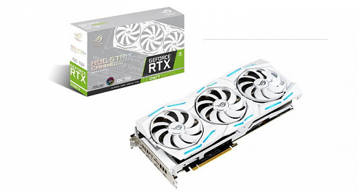 Представлена видеокарта ROG Strix GeForce RTX 2080 Ti White Edition в белом корпусе