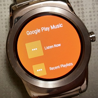Google Play Music на Android Wear